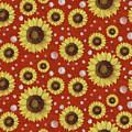 Farm Fresh Sunflower Red Dot Circle Toss Pattern by Audrey Jeanne Roberts
