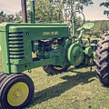 Farm Green Tractor Vintage Style by Edward Fielding