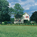 Farm House And Spring Field, Maryland by Panoramic Images