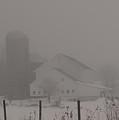 Farm In Fog by David Bearden