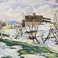 Farm In Winter by Richard T Pranke
