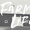 Farm Life Barn- Art by Linda Woods by Linda Woods