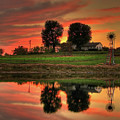 Farm Sunset by Farol Tomson