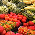 Farm To Market Produce - Melons, Corn, Tomatoes by Lynn Bauer