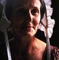 Farm Woman In Bonnet by Carl Purcell