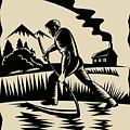 Farmer With Scythe by Aloysius Patrimonio