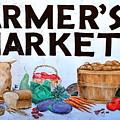 Farmers Market Sign. by Oscar Williams