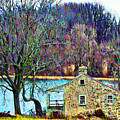 Farmhouse By The Lake by Bill Cannon