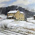 Farmhouse Snowman by C Keith Jones