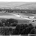 Farming Panorama Finger Lakes New York Bw by Thomas Woolworth