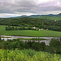 Farmland View Over The Connecticut River  by Nancy Griswold