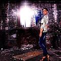 Fashion Model In Jeans  by Milan Karadzic