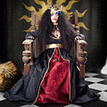 Fashion Queen In Crown Sitting In Jester Court by Jorgo Photography - Wall Art Gallery