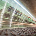 Fast Moving Long Exposure Of Subway Train Underground Tunnel by Alex Grichenko