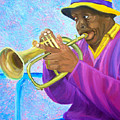 Fat Albert Plays The Trumpet by Michael Lee