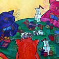 Fat Cats Playing Cards by Patti Schermerhorn