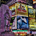 Father Duffy Watching Over Times Square by Lee Dos Santos