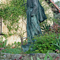 Father Junipero Serra Statue At Mission Carmel by Renee Hong