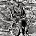 Fdr Memorial Sculpture In Wheelchair by Olivier Le Queinec