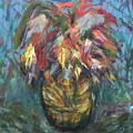 Feathers In Vase by Katt Yanda