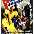 February Fiestas In Havana - Woman Dancing At Carnaval - Retro Travel Poster - Vintage Poster by Studio Grafiikka