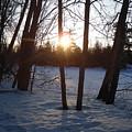 February Sunrise Alongside A Tree by Kent Lorentzen