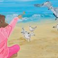 Feeding The Birds by Michael Lee