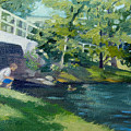 Feeding The Ducks by Leslie Alfred McGrath