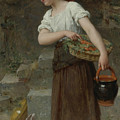 Feeding The Rabbits by Emile Munier