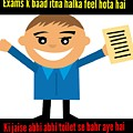 Feeling After Exams by Abhijeet Vishwakarma