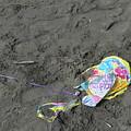 Feliz Cumpleanos Mylar On The Beach by Erik Burg