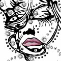 Female Abstract Face by Darren Cannell