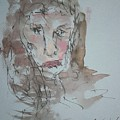 Female  Face Study  A by Edward Wolverton