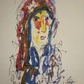 Female Face Study N by Edward Wolverton