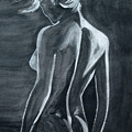Female Nude Black And Grey by Antje Wieser