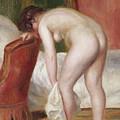 Female Nude Drying Herself by Pierre Auguste Renoir