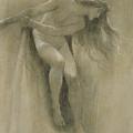 Female Nude Study  by John Robert Dicksee