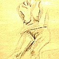 Female Nude With Arm Across by Sheri Buchheit