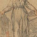 Female Saint (saint Clare Of Assisi Or Saint Catherine Of Siena?) by Italian 17th Century