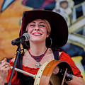 Female Stage Performer With Drum by Doug Berry