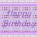 Feminine Lavender Birthday Card by Barbie Corbett-Newmin