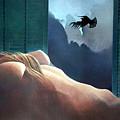 Femme Oiseau Montagne by James LeGros