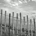 Fence At Jones Beach State Park. New York by Gary Koutsoubis