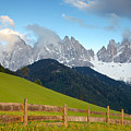 Fence At Val Di Funne by Daryl L Hunter