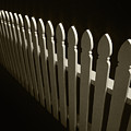 Fence Bw by Steve Williams