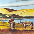 Fence Rider Going Home by Bob Patterson