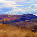 Fence Views Wyoming Color by Chuck Kuhn