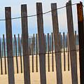 Fenced Off Beach by Deborah Napelitano