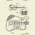 Fender Guitar 1966 Patent Art by Prior Art Design