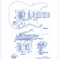 Fender Guitar Patent Drawing by Gary Grayson